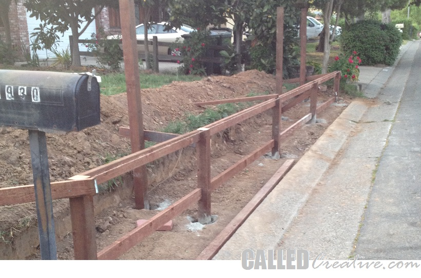 Metal Post Retaining Wall Plank : Creating a modern wood metal retaining wall fence