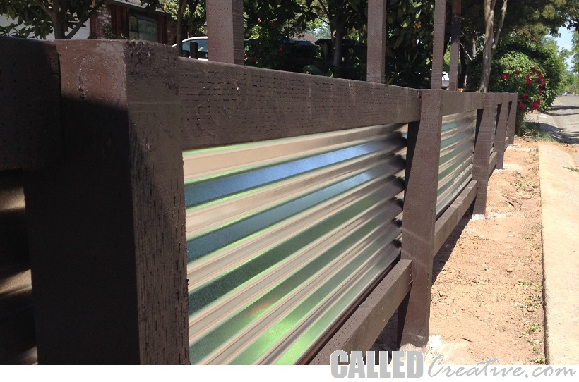 corrugated metal fence. Delighful Fence Throughout Corrugated Metal Fence