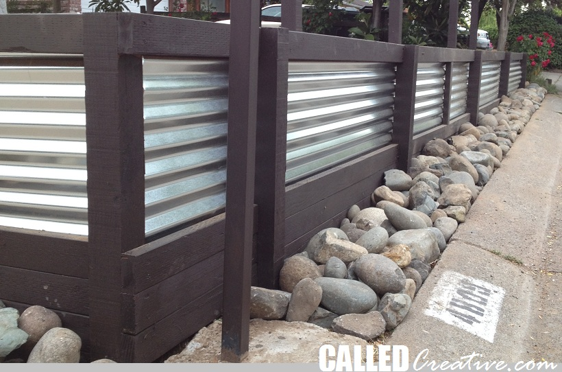 Creating A Modern Wood & Metal Retaining Wall & Fence