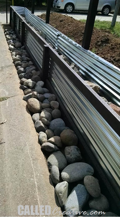 how to build corrugated metal retaining wall