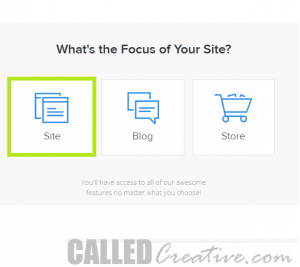 Weebly Site Focus